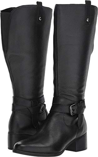 Leather Large Calf (Naturalizer Women's Kim Black Wide Calf Leather 7.5 M US M (B))