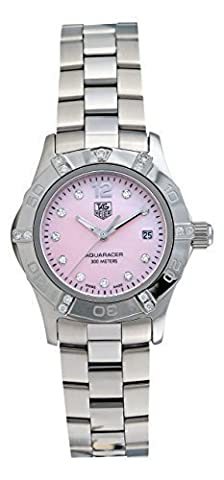 TAG Heuer Women's WAF141H.BA0824 Aquaracer Diamond Pink Mother-of-Pearl Dial Watch (Pink Tag Watch)