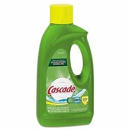 Cascade 40148 Lemon Scent Automatic Dishwasher Detergent Gel with Bleach, 45 Ounces (Case of 9)