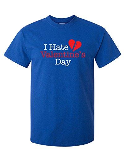 I Hate Valentine's Day. Funny Valentine's T-Shirt 4XL Royal