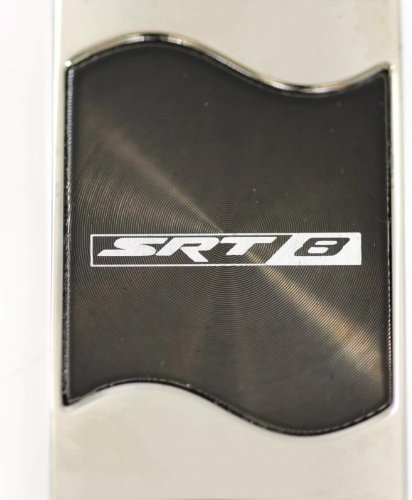 Au-TOMOTIVE GOLD Compatible Keychain and Keyring for Dodge SRT-8 Black Wave KC3075.SRT8.BLK
