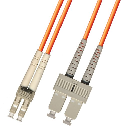 2M Multimode Duplex Fiber Optic Cable (62.5/125) - LC to SC by Ultra Spec Cables