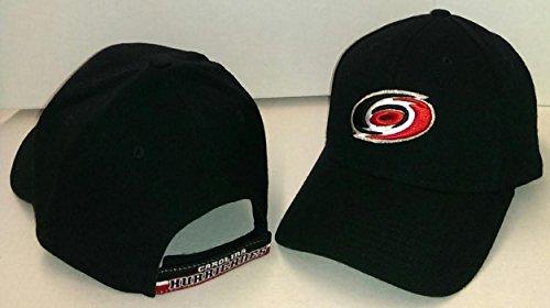 NHL Reebok Carolina Hurricanes Black Basic Logo Wool Blend Adjustable Hat