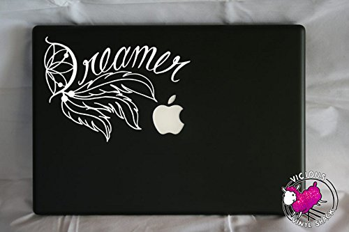 Dreamer Dream Catcher Word Quote and Feathers  Vinyl Decal S