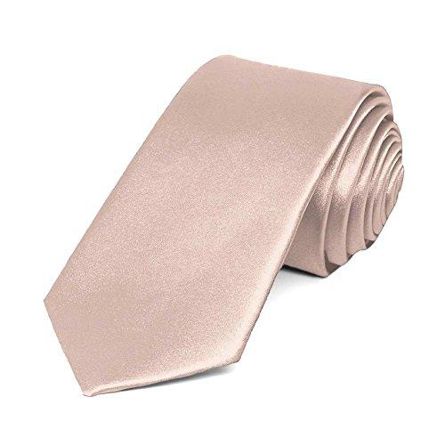 "TieMart Blush Pink Slim Solid Color Necktie, 2.5"" Width from tiemart"