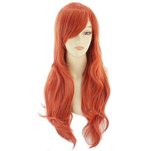 - BERON 26'' Long Curly Cosplay Constume Party Wig (Orange)