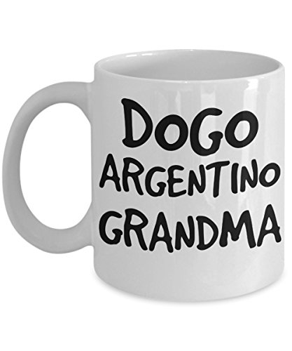 Dogo Argentino Grandma Mug - White 11oz Ceramic Tea Coffee Cup - Perfect For Travel And Gifts 1