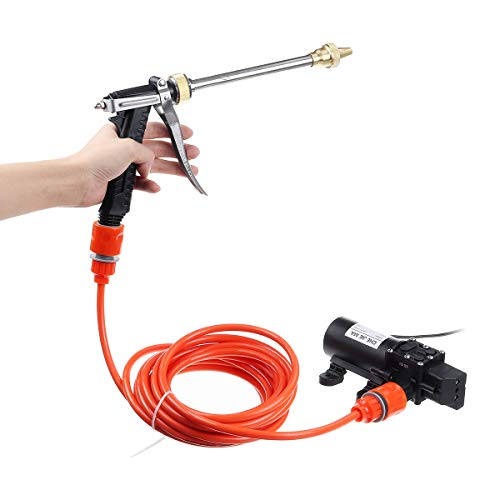 Farway 12v 100W 200PSI Car Wash Pump Sprayer Kit Tool High Pressure Self-Priming Auto Washer Sprayer Cleaning Set with Spray G-un Pipe