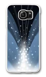 Cascade Of Magic Powder Dark Blue Custom Samsung Galaxy S6/Samsung S6 Case Cover Polycarbonate Transparent