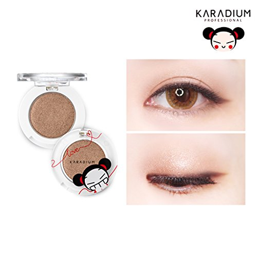 [KARADIUM] PUCCA LOVE EDITION Shine Eye Shadow 1.7g - 6 Colors / Long Lasting Moist Fitting Daily Makeup Shadow (#02 GOLD SHINE)