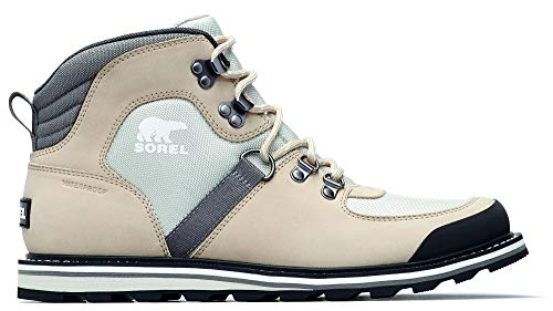Sorel - Men's Madson Sport Hiker Waterproof Leather Boots, Ancient Fossil/Light Dove, 8 M US