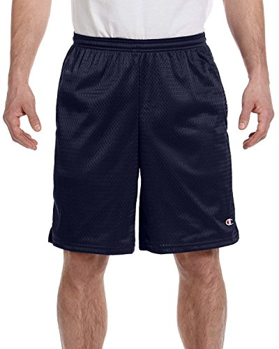 (Champion Men's Long Mesh Short With Pockets,Navy,X-Large )