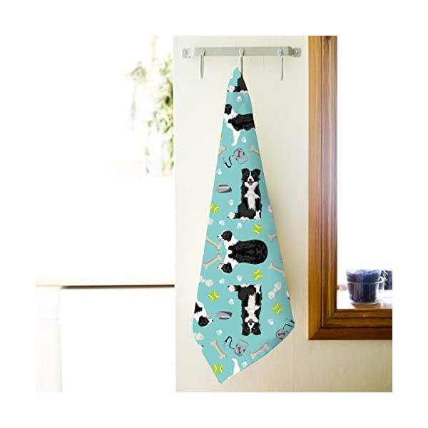 Border Collie Tennis Balls Kitchen Towels ¨C 17.5X27.5in Microfiber Terry Dish Towels for Drying Dishes and Blotting Spills ¨CDish Towels for Your Kitchen Decor 2