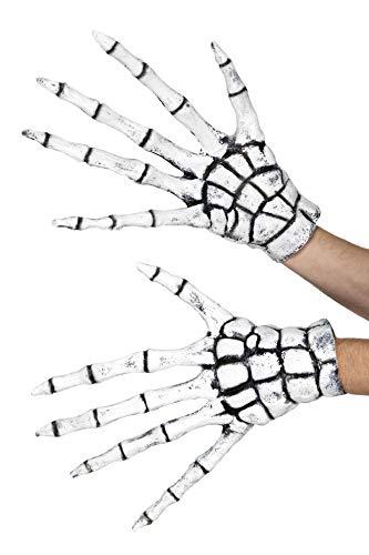 Smiffys Reaper/skeleton Gloves, White, Rubber , Extra Long