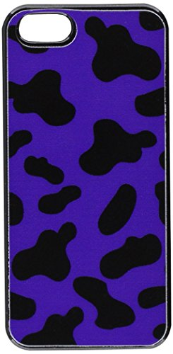 Graphics and More Cow Print Purple Snap-On Hard Protective Case for iPhone 5/5s - Non-Retail Packaging - Black