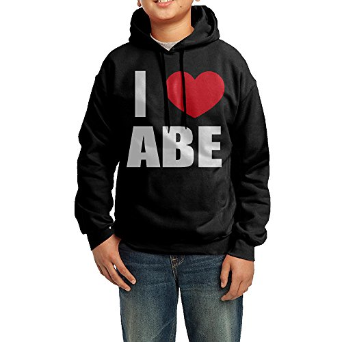 fantastic-kids-i-love-abe-i-love-abraham-heart-sweatshirt-black-color-drawstring