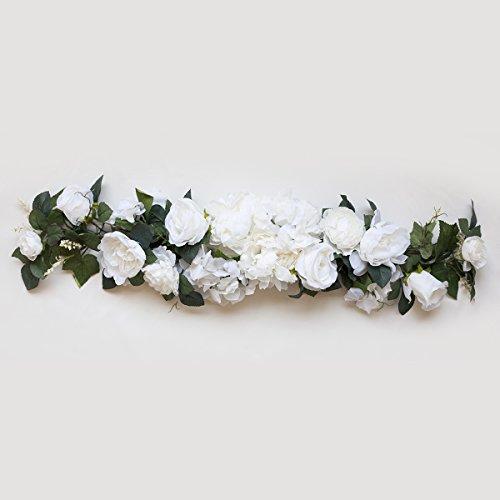 32'' Cream Silk Rose Flowers Swag / Small Wreath by BalsaCircle