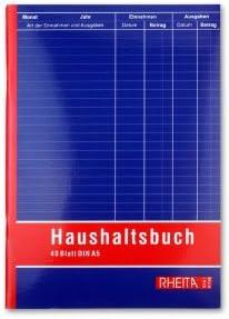 Haushaltsbuch 40 Blatt DIN A5