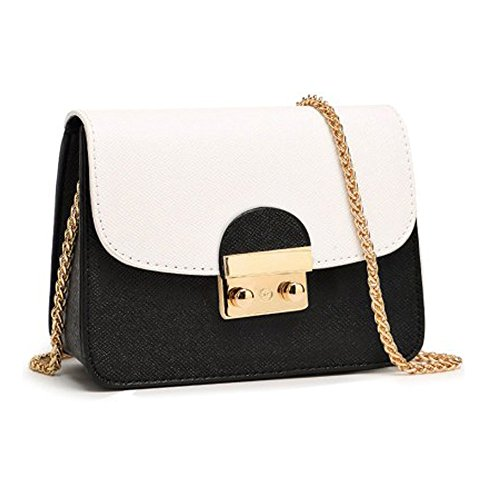 Evening Bag for Women Small Purse for Girls Night out Black and White - Short Shoulder Black Handbags