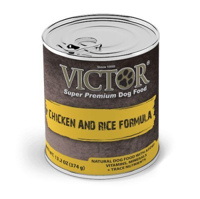Victor Chicken and Rice Pate Canned Dog Food - 13.2 oz (12 cans in a case)