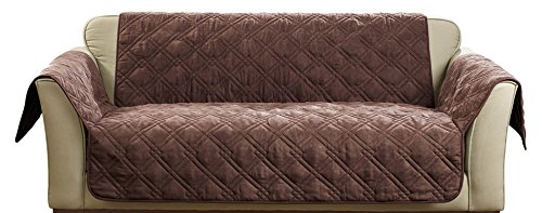 (Sure Fit SF44825 Deluxe Non Skid Waterproof Pet Loveseat Furniture Cover, Chocolate)