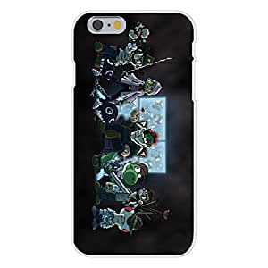 """Apple iPhone 6 Custom Case White Plastic Snap On - Video Game Parody """"Walking Plumbers"""" Entire Cast Zombie Dead TV Show"""
