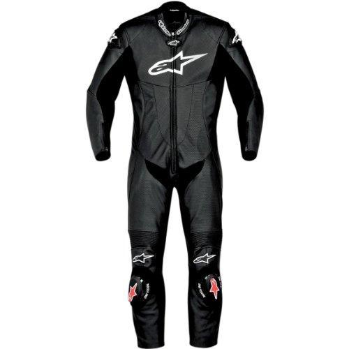 Alpinestars SP-1 One-Piece Suit , Size: 52, Distinct Name: Black, Gender: Mens/Unisex, Primary Color: Black, Apparel Material: Leather 3150811-10-52