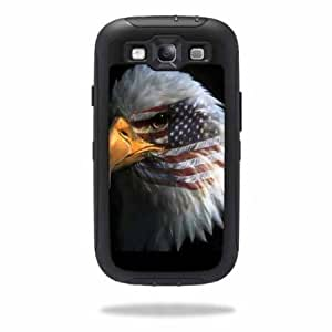 Cerhinu Protective Vinyl Skin Decal Cover for OtterBox Defender Samsung Galaxy S III S3 Case Sticker Skins Eagle Eye