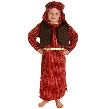 FANCY DRESS KIDS BOYS BROWN u0026 RED SHEPHERD NATIVITY COSTUME - SMALL AGES ...  sc 1 st  Amazon UK & FANCY DRESS KIDS BOYS BROWN u0026 RED SHEPHERD NATIVITY COSTUME - SMALL ...