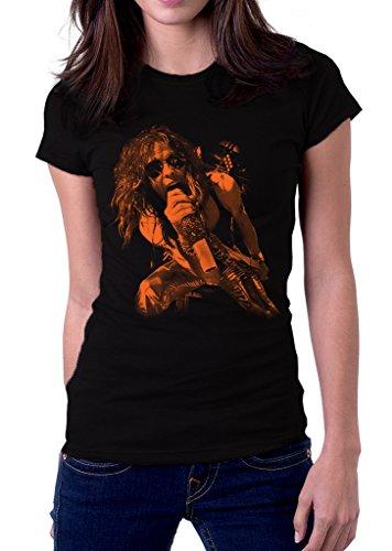 - Steven Tyler Singing Aerosmith Band Logo Women's T-Shirt