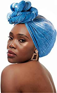 Yeieeo Soft Stretch Head Wrap Scarf Long Turban Headband for Women
