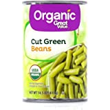 (1) Great Value Organic Green Beans, 14.5oz can