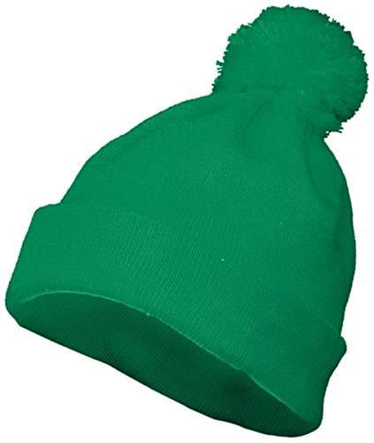 Augusta Sportswear Pom Beanie OS Kelly (Kelly Green Pom Pom Hat)