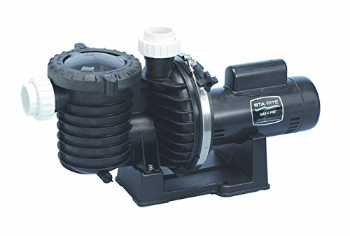 Pentair Sta-Rite P6EA6F-206L Max-E-Pro Energy Efficient Single Speed Up Rated Pool and Spa Pump, 1-1/2 HP, 115/230-Volt by Pentair