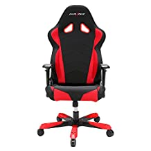 DX Racer DOH/TS30/NR Big and Tall Chair Racing Bucket Seat Office Chair Gaming Chair Ergonomic Computer Chair eSports Desk Chair Executive Chair Furniture with Free Cushions (Black/Red)