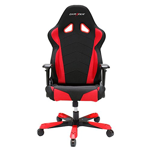 DX Racer Tank Series DOH/TS30/NR Big and Tall Chair Racing Bucket Seat Office Chair Gaming Chair Ergonomic Computer Chair eSports Desk Chair Executive Chair Furniture with Free Cushions (Black/Red) by DX Racer