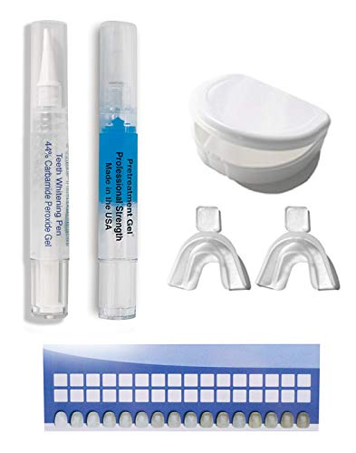Extra Large Teeth Whitening Pens 4cc (not 2cc) = 40+ uses of 44% carbamide peroxide tooth whitener stain remover gel…