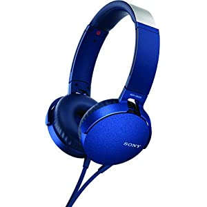 Sony XB550AP Extra Bass On-Ear Headset/Headphones with mic for phone call, Blue