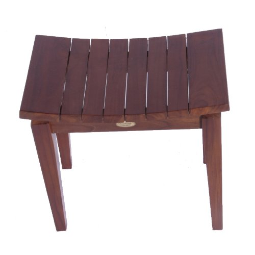 "Sojourn 20"" Contemporary Solid Teak Eastern Style Shower Bench"