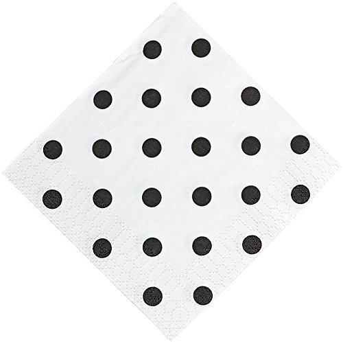 Black and White Polka Dot Beverage Napkins for $<!--$7.68-->