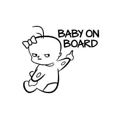 Cvxgdsfg Autocollants réfléchissants pour bébé à bord de bébé Autocollants pour bébé sur la voiture