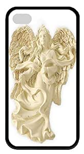 Angel of Tenderness Blessing Angel Ornament TPU Case Cover for iPhone 4 and iPhone 4s Black by icecream design