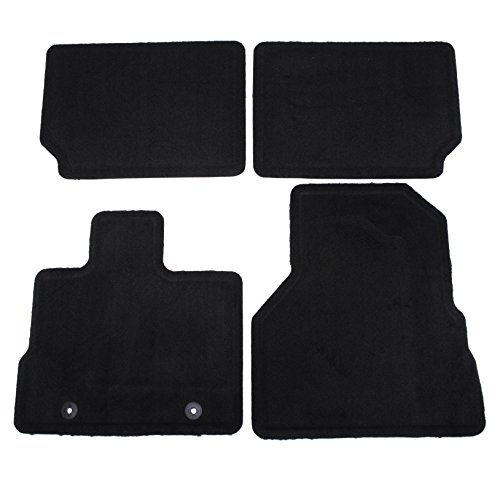 Front Mat Gm - GM Accessories 22783017 Front and Rear Carpet Floor Mats in Jet Black