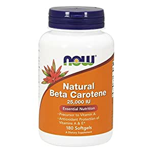 NOW Natural Beta Carotene,180 Softgels