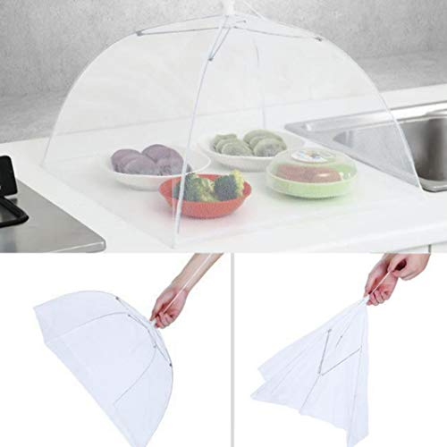 SUJING-6PCS-Pop-Up-Mesh-Screen-Food-Cover-TentsCollapsible-and-Reusable-Outdoor-Picnic-Food-Net-Tent-Umbrella-Food-Cover-Net-Keep-Out-Flies-Bugs-Mosquitoes