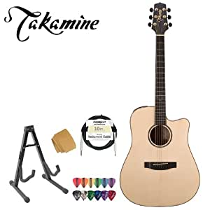takamine eg363sc acoustic electric guitar with stand cable strings takamine suede. Black Bedroom Furniture Sets. Home Design Ideas
