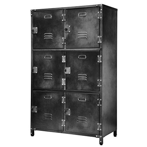 Allspace 6 Door Locker with Dark Weathered Finish - 240037