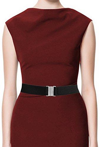 LUNA Fashion 1 1/2 Inch Premium Elastic Cinch Belt - Original - Black