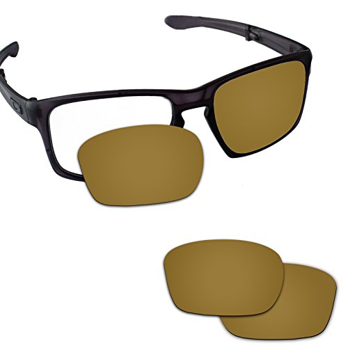 Fiskr Anti-saltwater Replacement Lenses for Oakley Sliver Sunglasses - Various Colors (Bronze Gold - Anti4s Mirror Polarized) ()