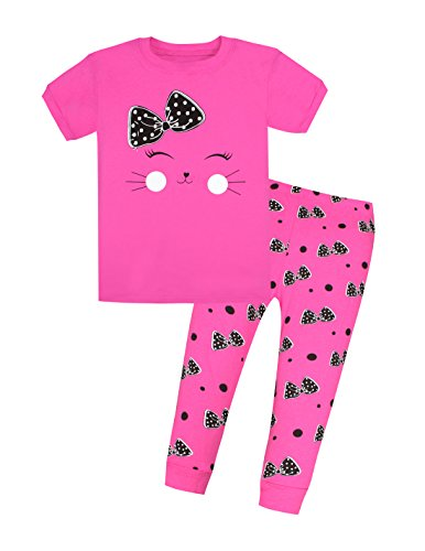 UPC 611492718191, Viobarmo Children Pajama Set Kids T Shirt Top & Pants 100% Cotton Sleepwear (2-7 Years)